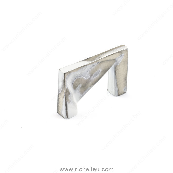 Richelieu Hardware 68113231 Contemporary Metal Pull  -  6811  - Brushed Industrial White