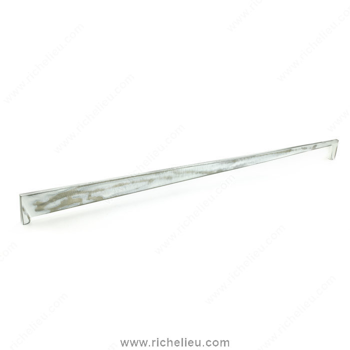 Richelieu Hardware 681144831 Contemporary Metal Pull  -  6811  - Brushed Industrial White