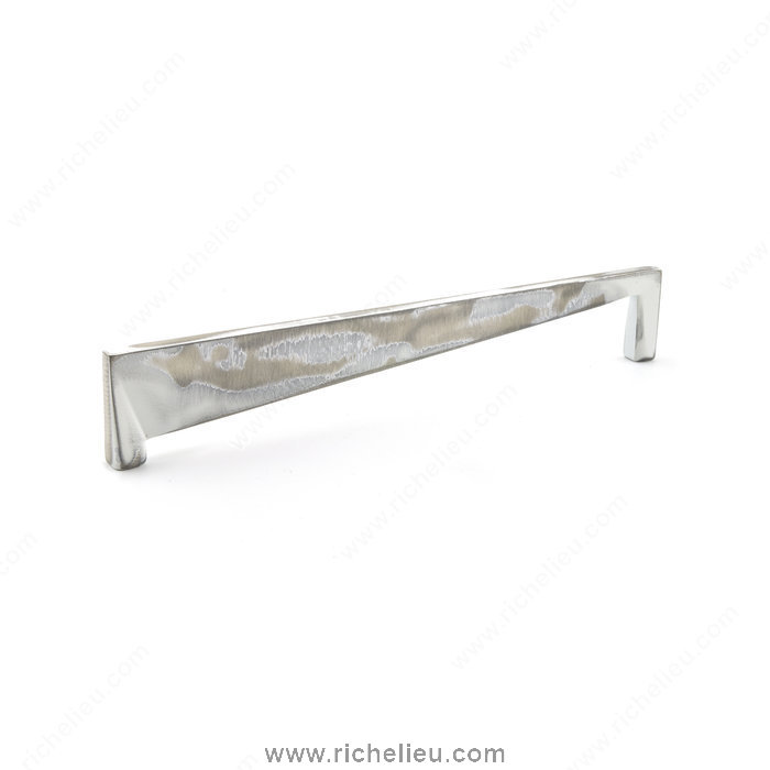 Richelieu Hardware 681116031 Contemporary Metal Pull  -  6811  - Brushed Industrial White