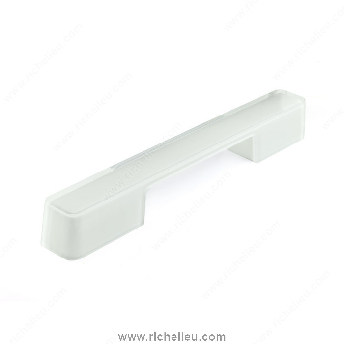 Richelieu Hardware 60071603011 Contemporary Plastic Pull  -  6007  - White; Clear