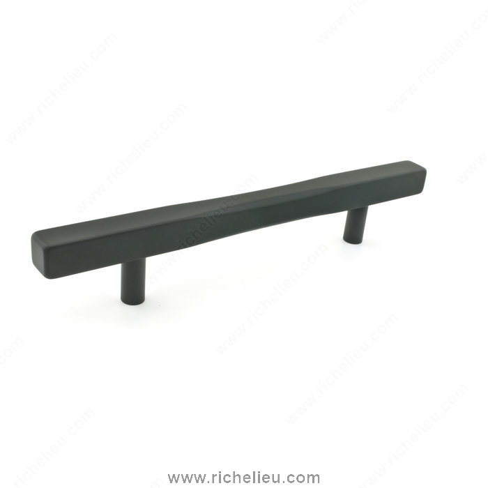 Richelieu Hardware 7735128900 Contemporary Metal Pull  -  7735  - Black