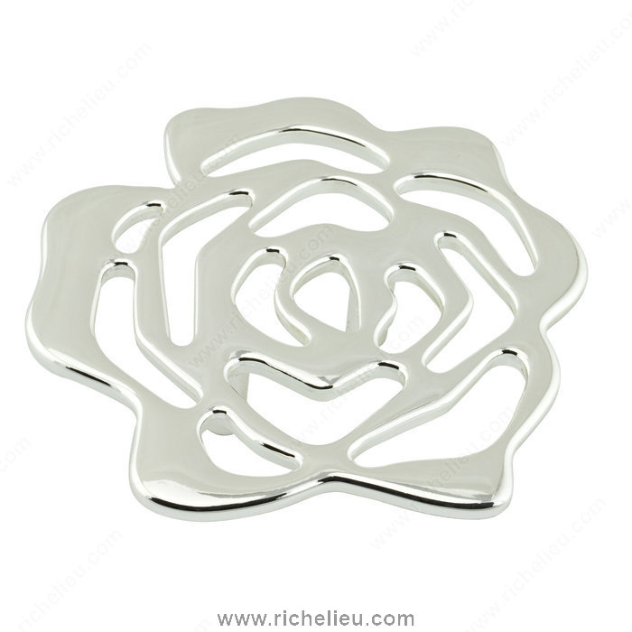 Richelieu Hardware 5163100180 Metal Flower Knob  -  5163  - Nickel