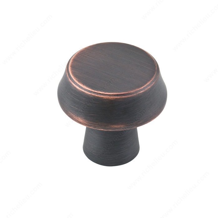 Richelieu BP1894027BORB Contemporary Metal Knob - 1894 - Brushed Oil-Rubbed Bronze