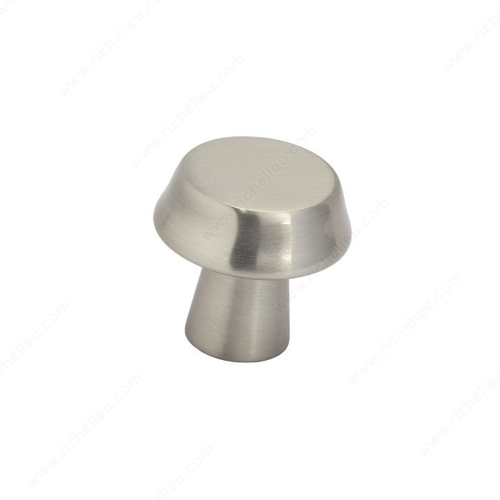Richelieu BP1894027195 Contemporary Metal Knob - 1894 - Brushed Nickel