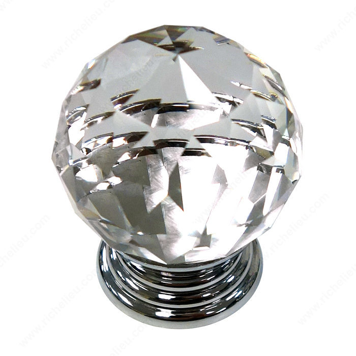 Richelieu BP100884014011 Eclectic Metal and Acrylic Knob - 10088