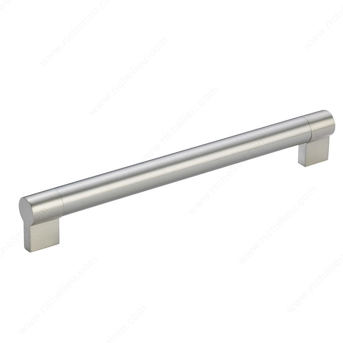 Richelieu Hardware Bp500256195 Contemporary Stainless Steel Handle Pull 256MM Brushed Nickel Finish