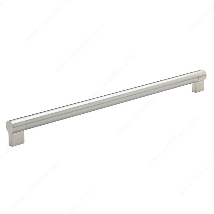 Richelieu Hardware Bp500448195 Contemporary Stainless Steel Handle Pull 448MM Brushed Nickel Finish