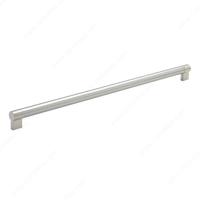 Richelieu Hardware Bp500576195 Contemporary Stainless Steel Handle Pull 576MM Brushed Nickel Finish