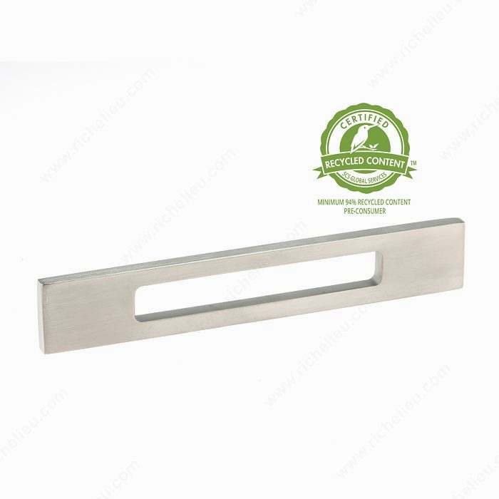 Richelieu BP718554195 Contemporary Brass Pull - 71855 - Brushed Nickel