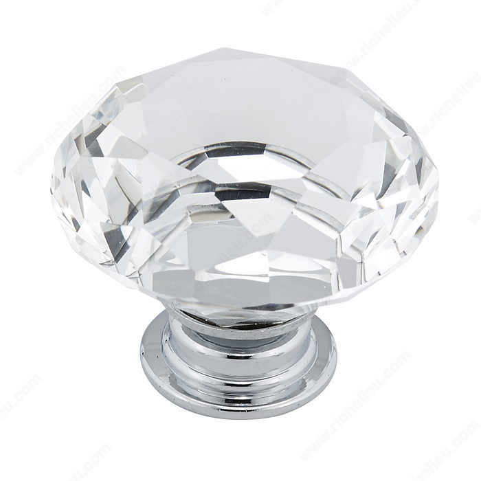 Richelieu BP282804014011 Contemporary Crystal Knob - 2828 - Chrome and Crystal