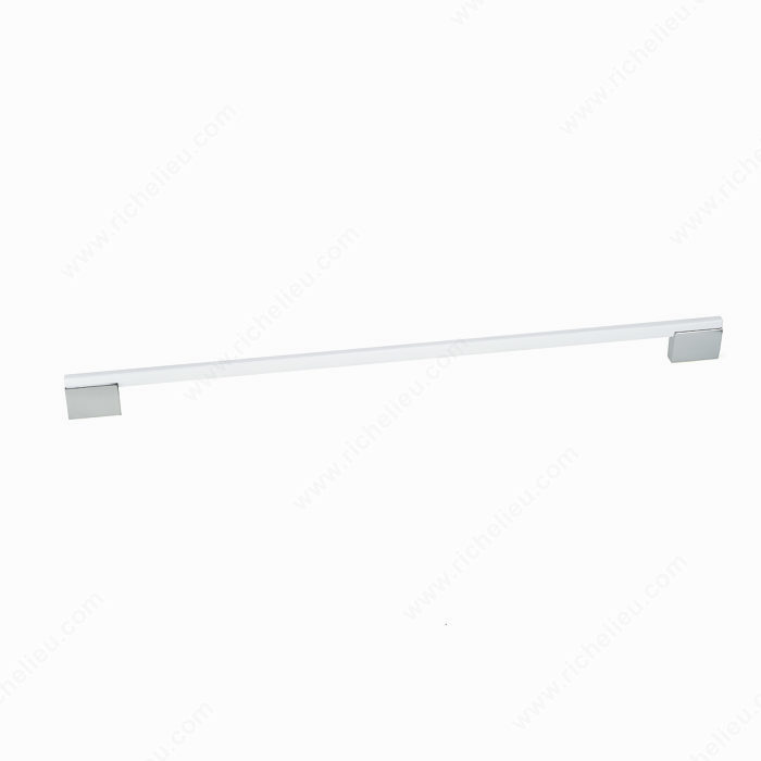 Richelieu 799051214002 Contemporary Metal Pull - 7990 - Chrome / White