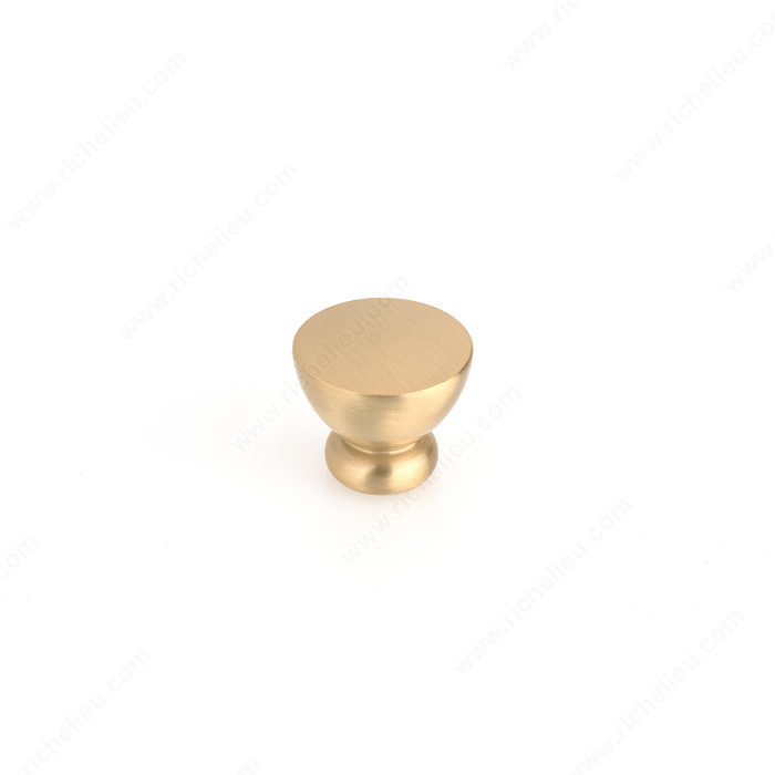 Richelieu 798626165 Contemporary Metal Knob - 7986 - Brushed Gold