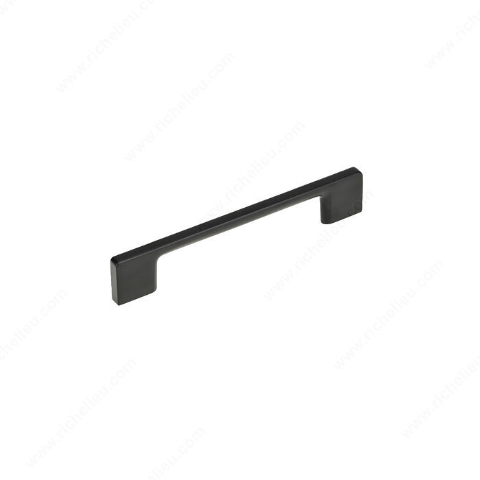Richelieu BP8160128900 Contemporary Metal Pull - 8160 - Matte Black