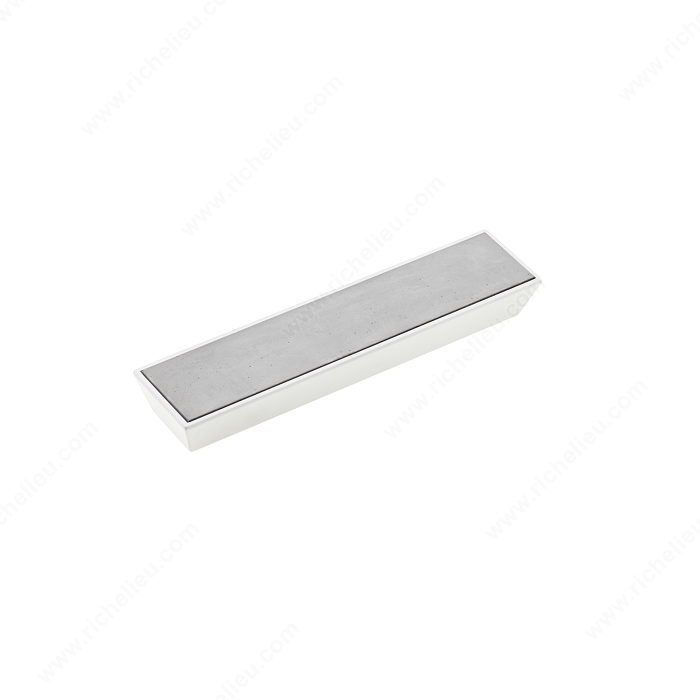 Richelieu 5858128102300 Contemporary Metal and Concrete Pull - 5858 - Matte White / Concrete