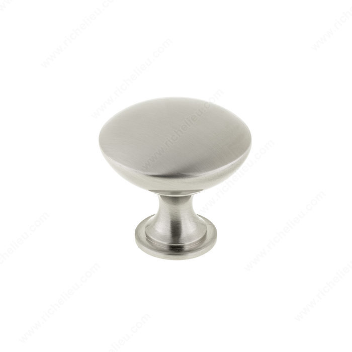 Richelieu BP904140195 Contemporary Metal Knob - 9041 - Brushed Nickel