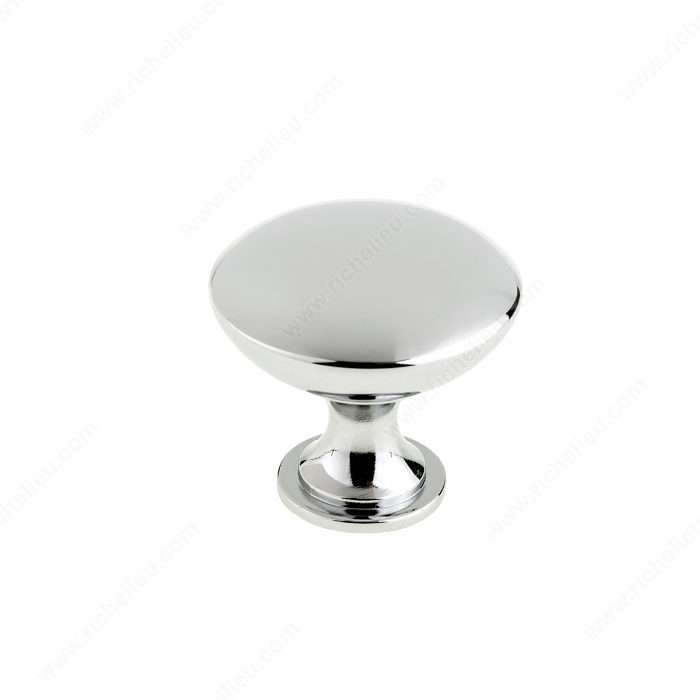 Richelieu BP904140140 Contemporary Metal Knob - 9041 - Chrome