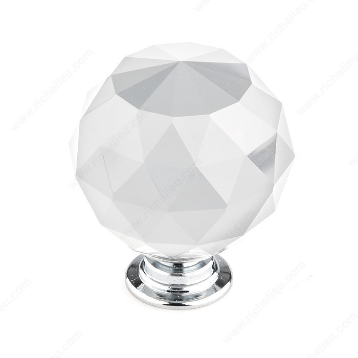 Richelieu BP87374014011 Eclectic Crystal Knob - 8737 - Clear / Crystal / Chrome