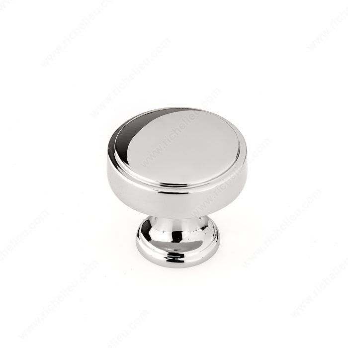 Richelieu 688440180 Transitional Metal Knob - 6884 - Polished Nickel