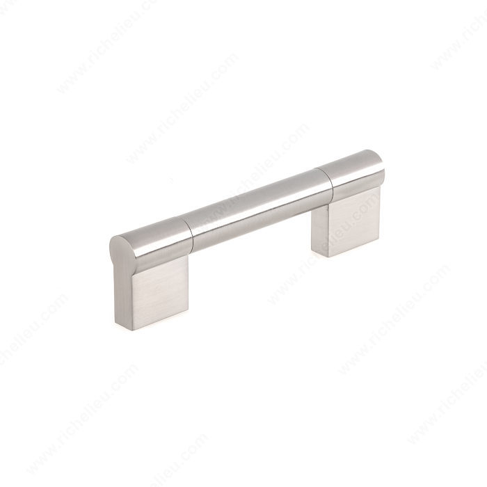 Richelieu Hardware Bp52796195 Contemporary Stainless Steel Bar Pull 96MM Brushed Nickel Finish