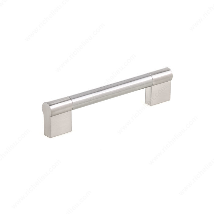 Richelieu Hardware Bp527128195 Contemporary Stainless Steel Bar Pull 128MM Brushed Nickel Finish