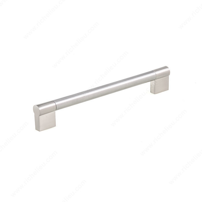 Richelieu Hardware Bp527192195 Contemporary Stainless Steel Bar Pull 192MM Brushed Nickel Finish
