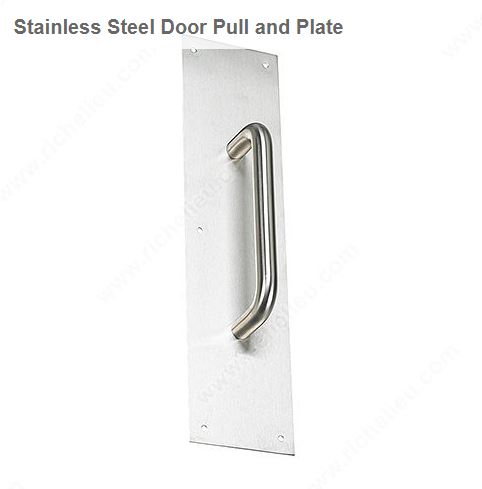 Richelieu 14230170 Stainless Steel Door Pull and Plate