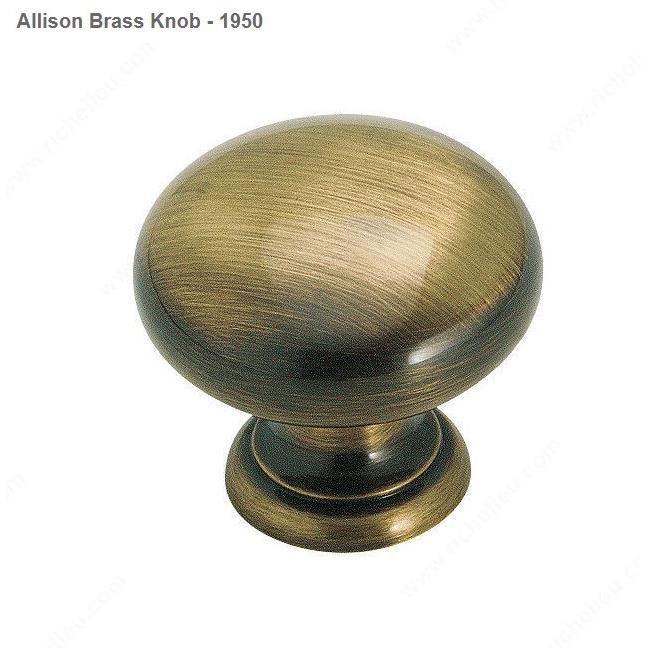 Richelieu Hardware BP1950AE Allison Brass Knob - 1950