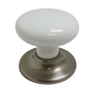 Richelieu BP321519530 Classic Ceramic and Metal Knob - 3215