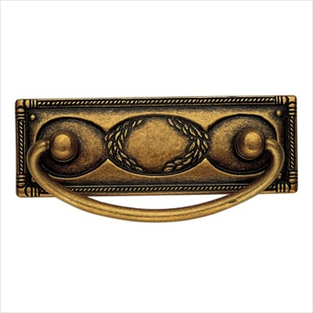 Richelieu Hardware 06323167 Art Deco Collection Brass Drop Pull 64MM Florence Brass Finish