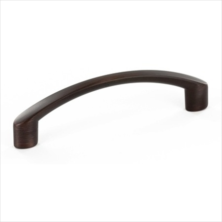 Richelieu Hardware 7438096Borb Contemporary Metal Arched Bar Pull 96MM Brushed Oil Rubbed Bronze Finish