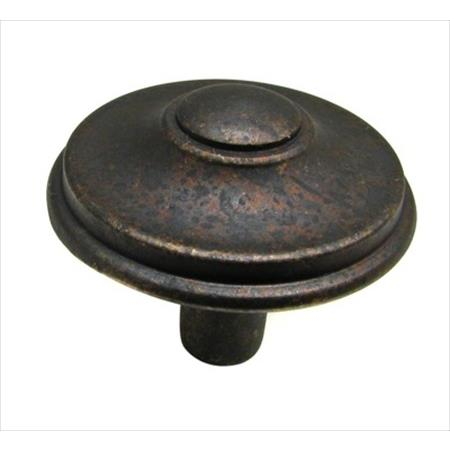 Richelieu Hardware 613433138 Povera Collection Classic Brass Knob 33MM Spotted Bronze Finish