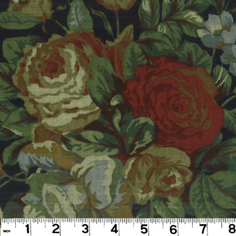 Roth & Tompkins English Garden Black Fabric