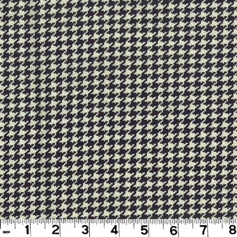 Roth and Tompkins D2286 HOUNDSTOOTH Fabric in BLACK/ANTIQUE WHITE