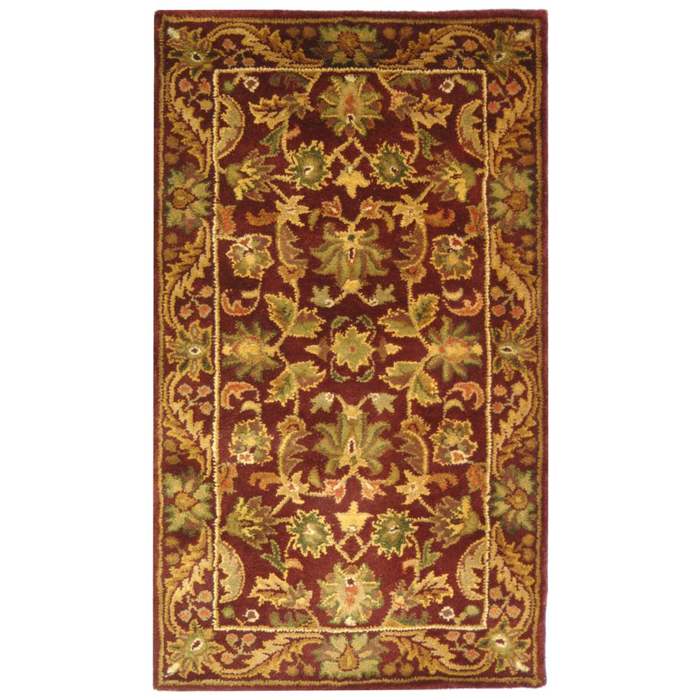 Safavieh AT52B-2 Antiquities Area Rug in WINE / GOLD