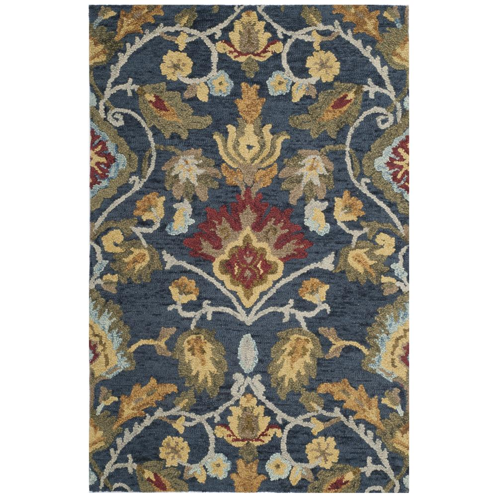 Safavieh BLM402A Blossom Area Rug in Navy / Multi