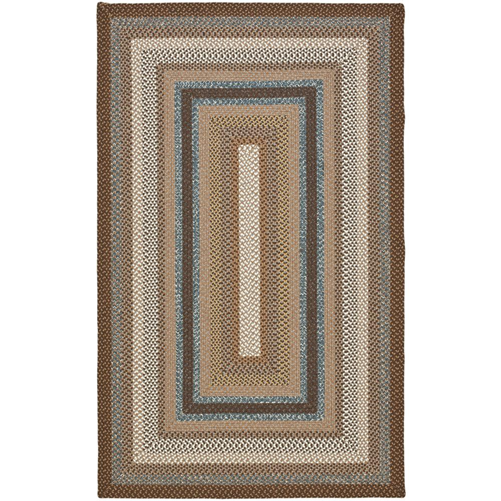 Safavieh BRD313A-4 Braided Area Rug in BROWN / MULTI
