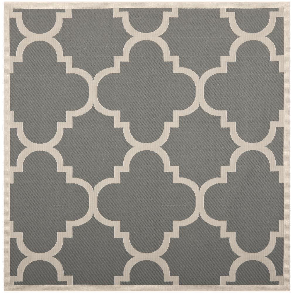 Safavieh CY6243-246-7SQ Courtyard Area Rug in Grey / Beige
