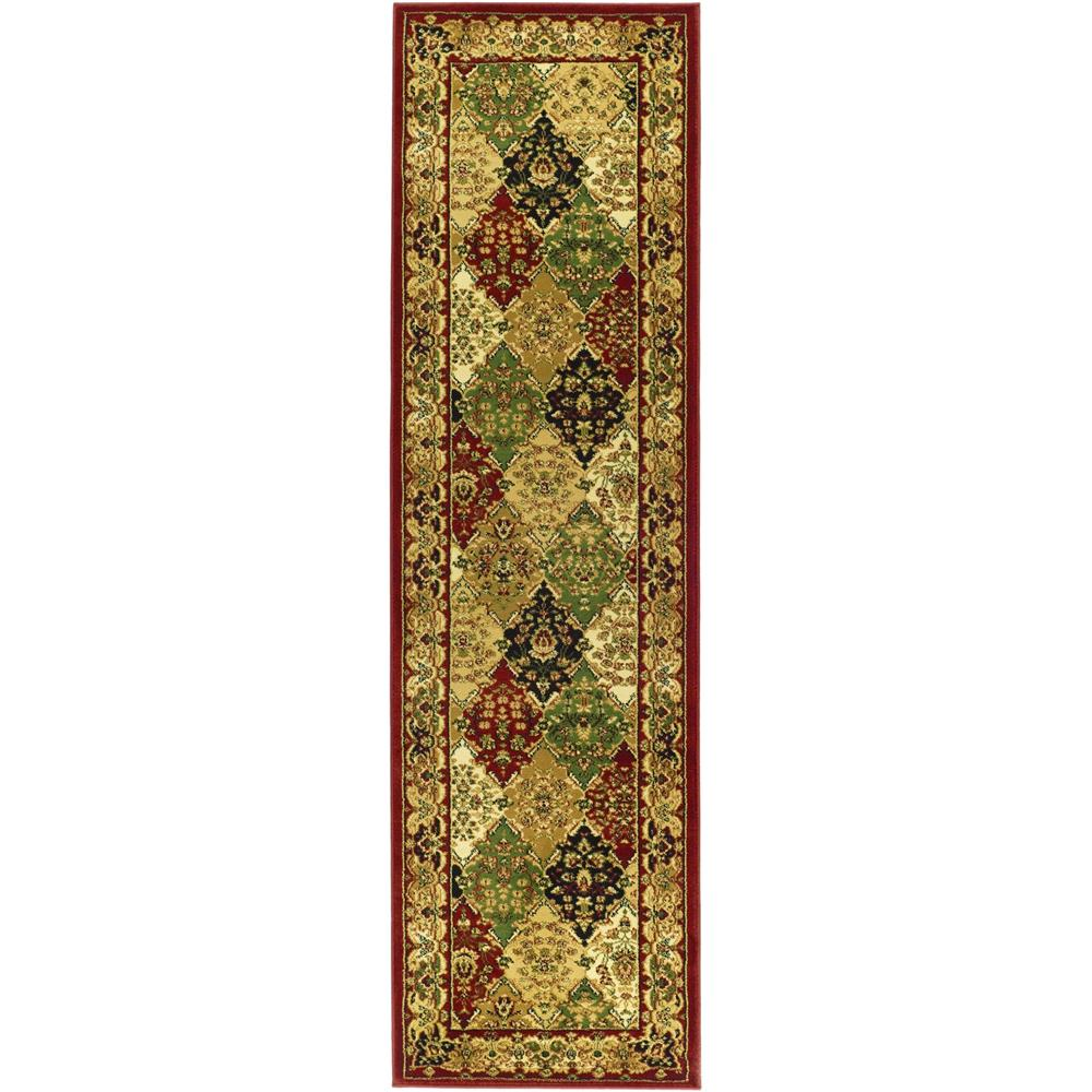 Safavieh LNH221B-26 Lyndhurst Area Rug in MULTI / RED