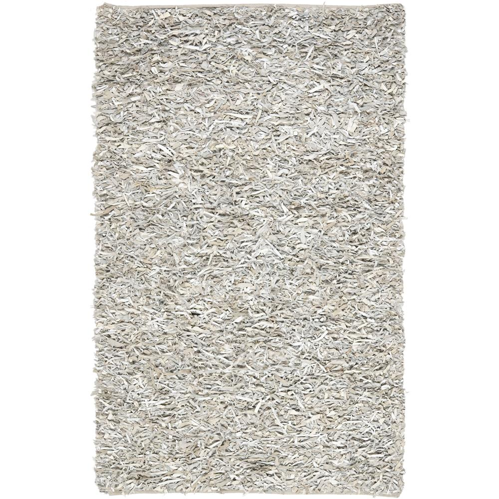 Safavieh LSG511C-6 Leather Shag Area Rug in White