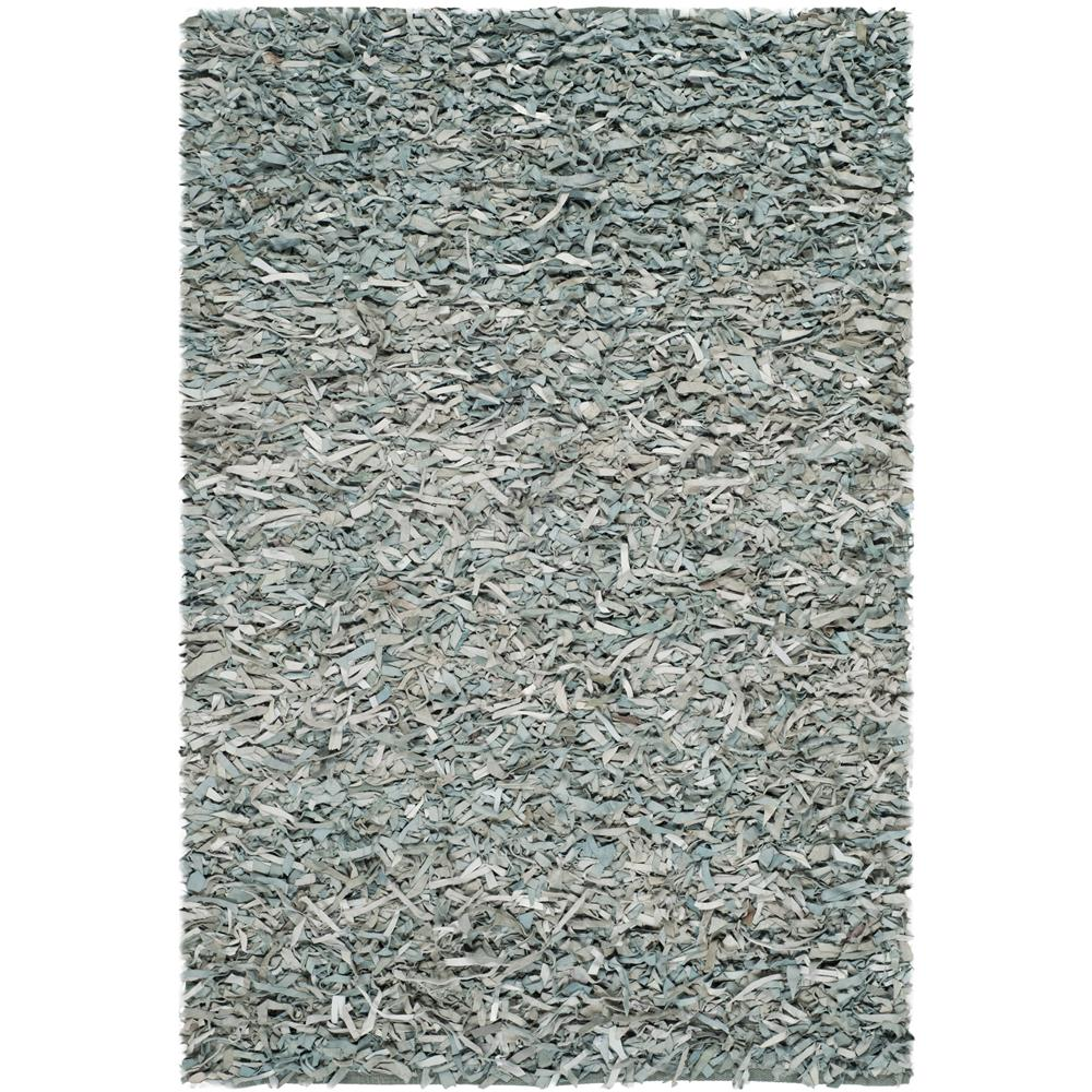 Safavieh LSG511L-5 Leather Shag Area Rug in Light Blue