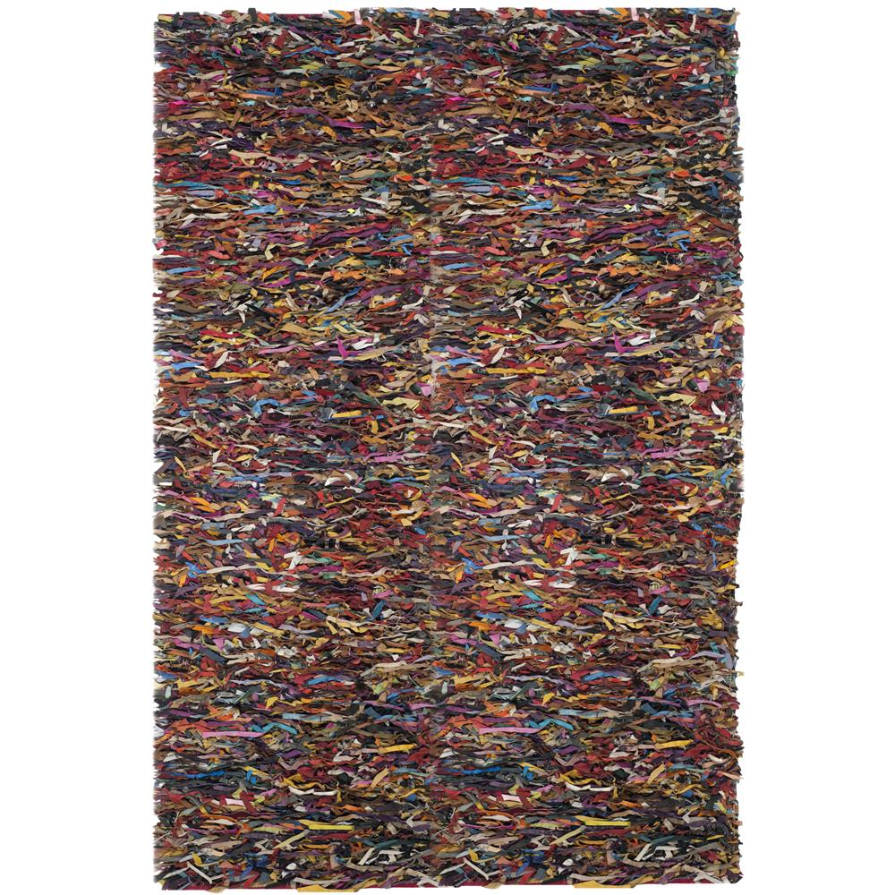 Safavieh LSG511M-6SQ Leather Shag Area Rug in Multi