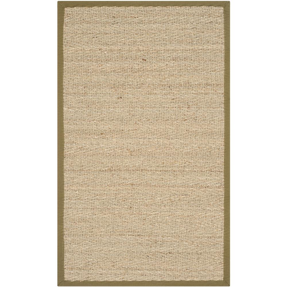 Safavieh NF115G-24 Natural Fiber Area Rug in NATURAL / OLIVE