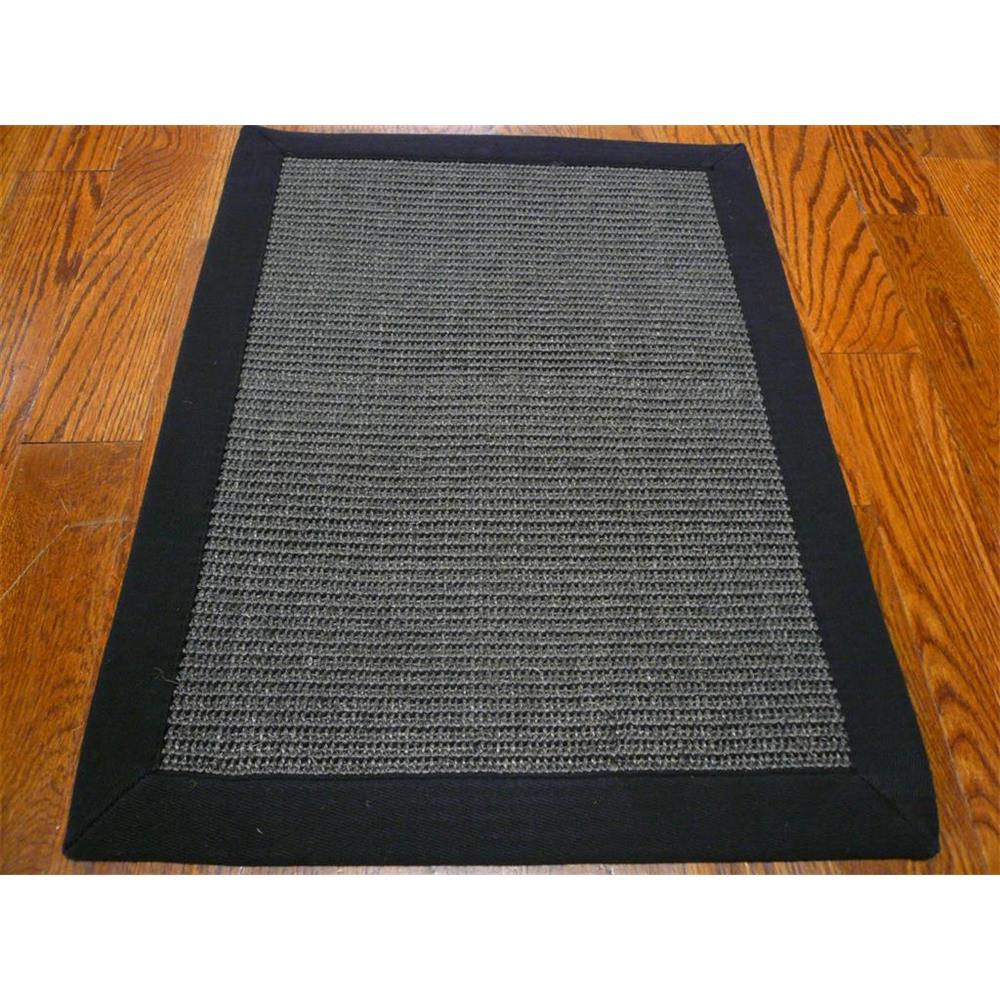 Safavieh NF441D-3 Natural Fiber Area Rug in CHARCOAL / CHARCOAL