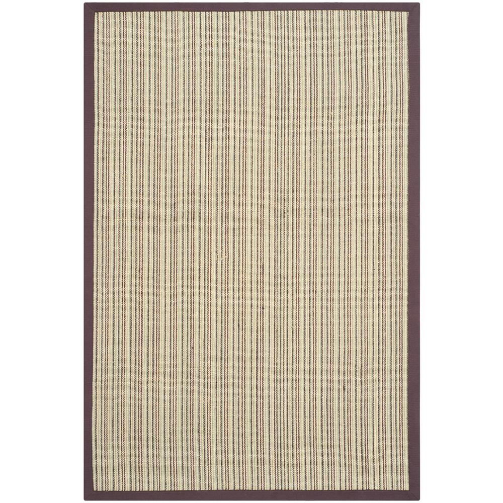 Safavieh NF442C-3 Natural Fiber Area Rug in BLUE / PURPLE