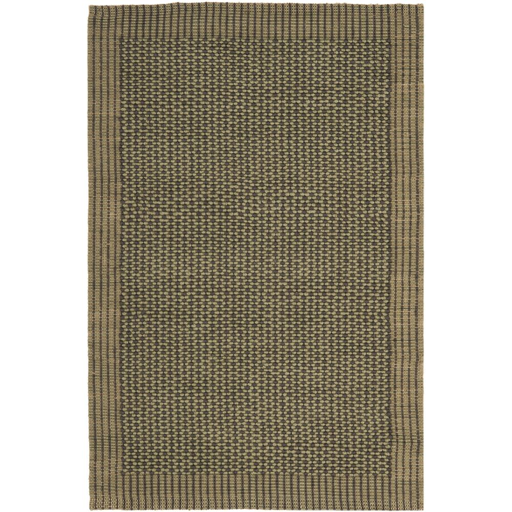 Safavieh NF451B-3 Natural Fiber Area Rug in CHARCOAL / GREEN