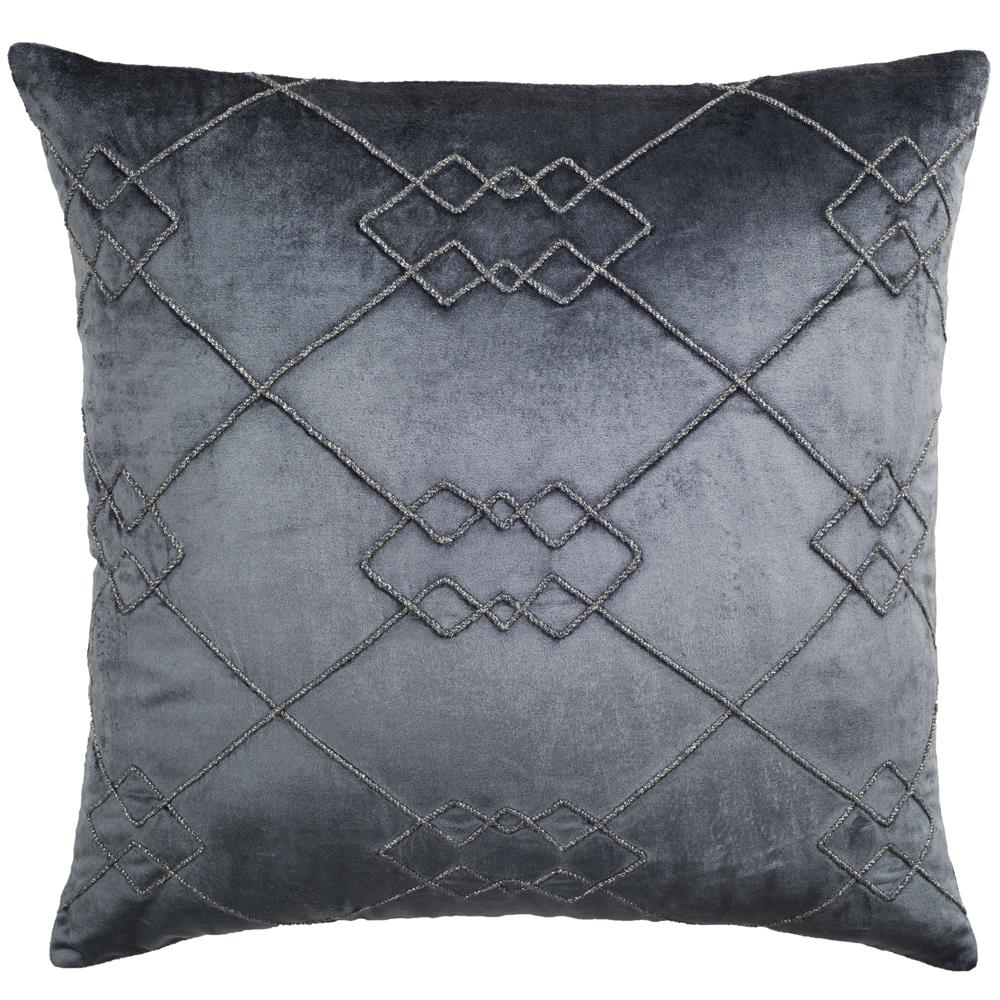 Safavieh PLS868A-2020 LUCIUS ARGYLE PILLOW in DREAM BLUE