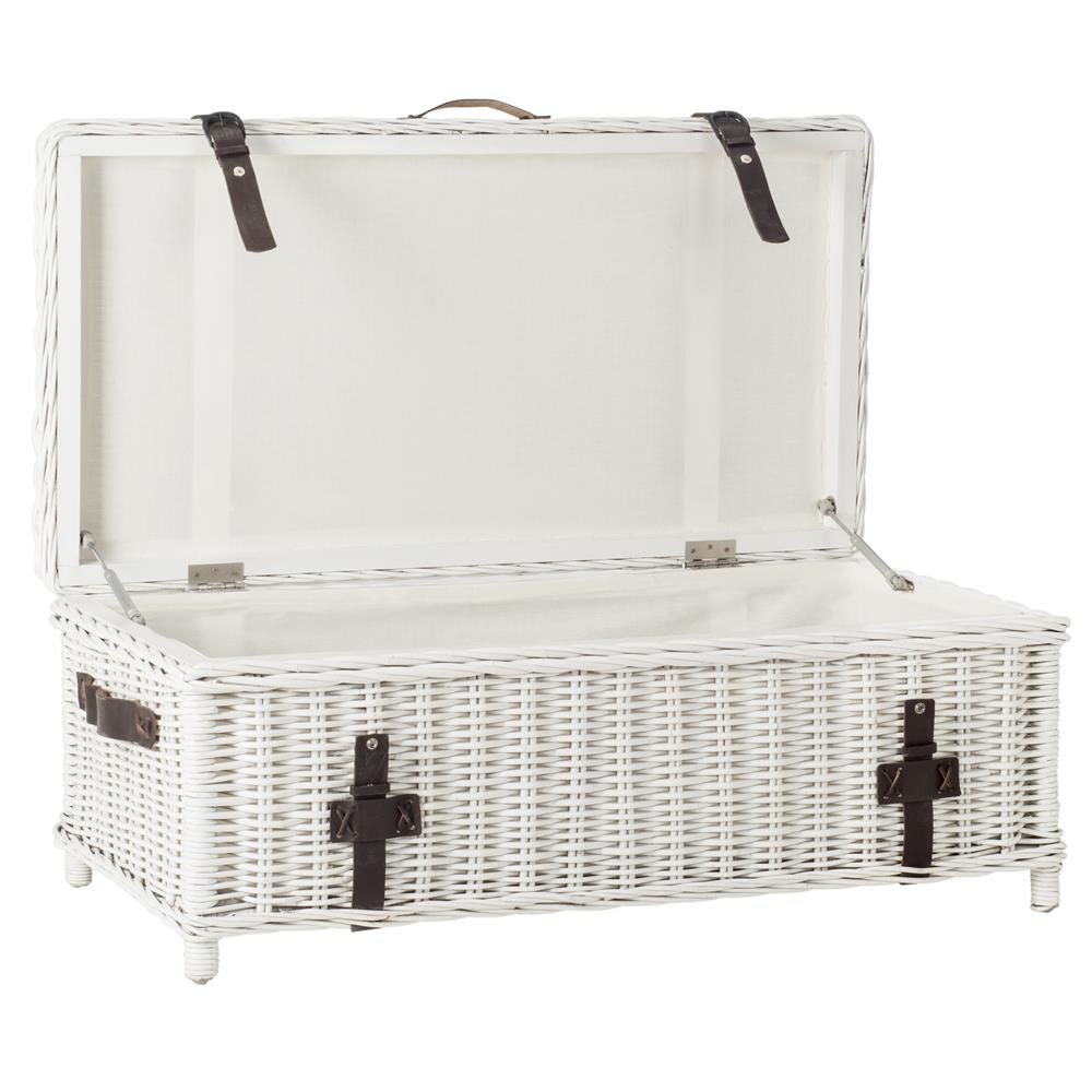 Safavieh SEA7022A NAVARRO TRUNK WHITE
