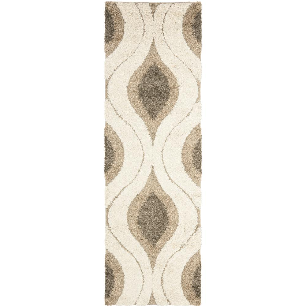 Safavieh SG461-1179-27 Florida Shag Area Rug in CRÈAM / SMOKE