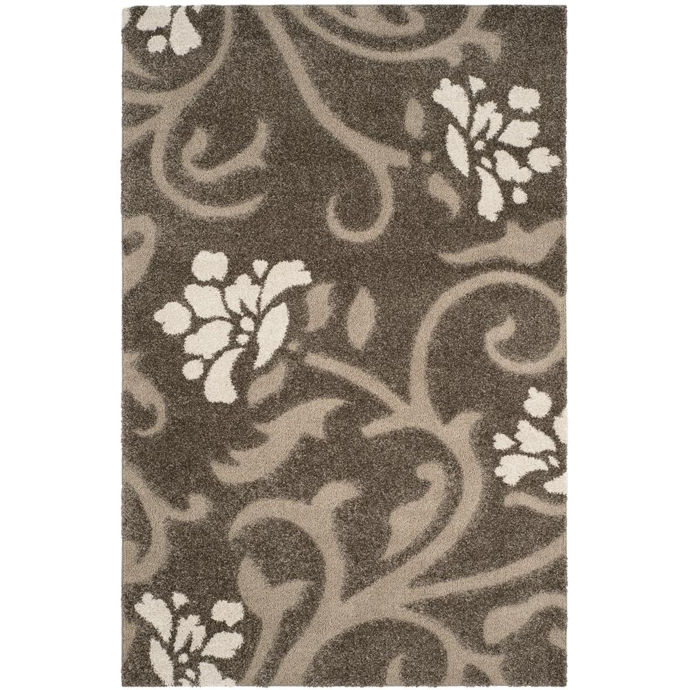 Safavieh SG464-7913-8 Florida Shag Area Rug in SMOKE / BEIGE