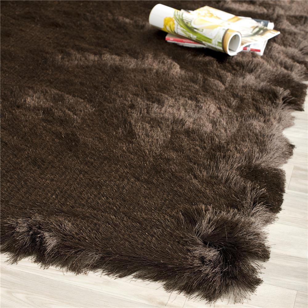 Safavieh SG511-2727-3 Paris Shag Area Rug in CHOCOLATE / CHOCOLATE